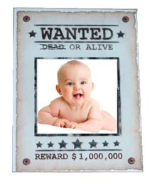Fotolijstje Wanted