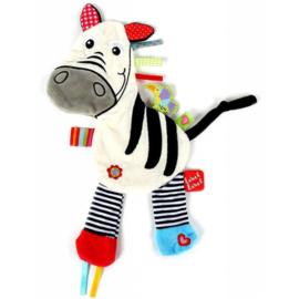 Label Label knuffeldoekje Friends zebra