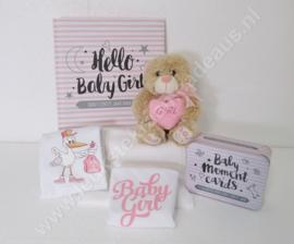 Cadeaubox It's a Girl Invulboek & Moment Cards