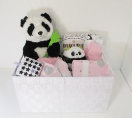Super de luxe kraammand Panda meisje