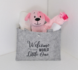 Tas Hond roze met of zonder naam & geboortedatum