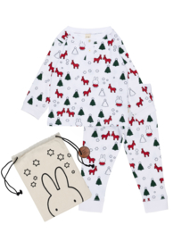 Nijntje Kerst Pyjama in katoenen tasje