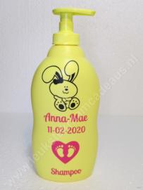 Zwitsal shampoo met naam en datum Konijn meisje