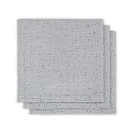 Jollein hydrofiel monddoekje Mini dots mist grey 3 pack