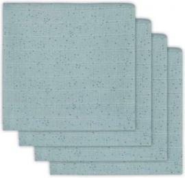 Jollein Hydrofiel luiers Mini dots stone green 4 pack