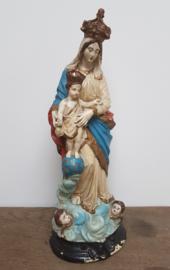 Maria met kind , beeld van gips