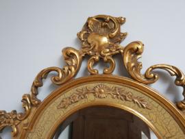 Zeer sierlijke , goudkleurige spiegel