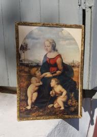 Lijstje met afbeelding vrouw en kinderen