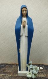 Prachtig Mariabeeld met blauwe cape