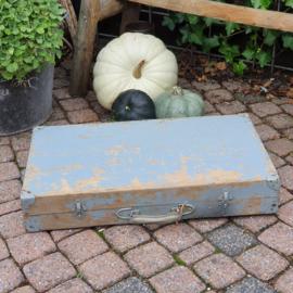 Stoer grijsblauwe kist