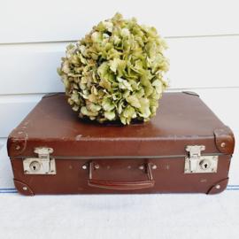 Klein, bruin koffertje, lekker brocante