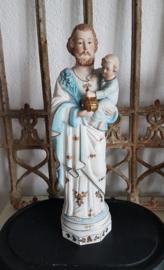 Mooi beeld van Jezus met kind in biscuit