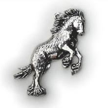 Halsketting hanger Shire paard
