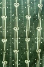 Tafelkleed groen hartjes