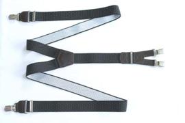 Hendrik Gold bretel zwart met witte stipjes ( 4 clips )