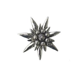 Tinnen speld/pin Edelweiss groot