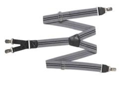 Hendrik bretel grijs met 2 zwarte streepjes ( 4 clips )