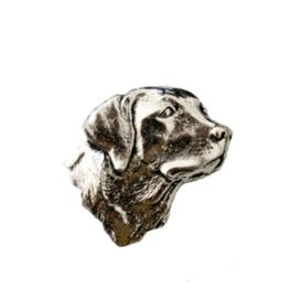 Tinnen speld/pin Labrador