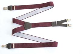 Hendrik Gold bretel bordeaux met zwarte stipjes ( 4 clips )