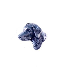 Tinnen speld/pin Labrador smal