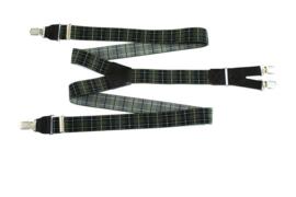 Hendrik Gold bretel ruit zwart groen ( 4 clips )