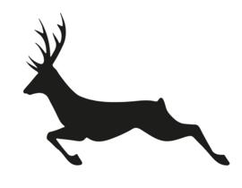 Sticker hert springend