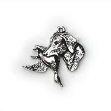 Halsketting hanger Labrador met eend
