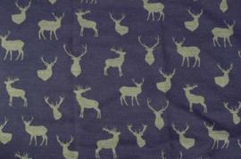 Tafelkleed Hert bauw/ grijs ( 140 cm breed )