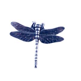 Tinnen speld/pin Libelle