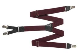 Hendrik bretel bordeaux ( 4 clips )