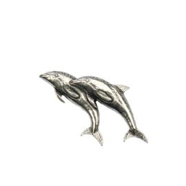 Tinnen speld/pin Dolfijnen