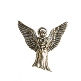 Tinnen speldje / pin Engel vleugels wijdt