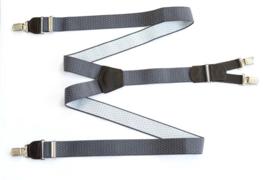 Hendrik Gold bretels grijs met zwarte stipjes ( 4 clips )