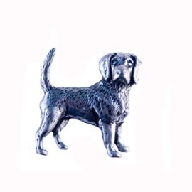 Tinnen speld/pin Beagle