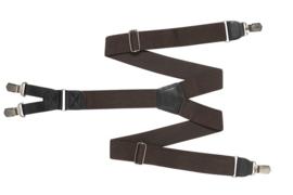 Hendrik bretel donker bruin ( 4 clips )