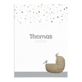 Geboortekaart Thomas