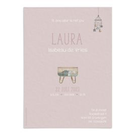 Geboortekaart  Laura
