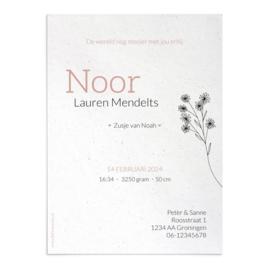 Geboortekaart Noor