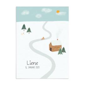 Geboortekaart Liene - winterwonderland
