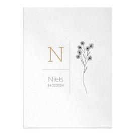 Geboortekaart Niels
