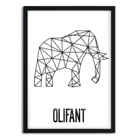 Poster Olifant A5/A4