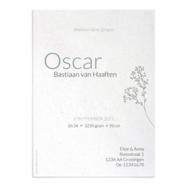 Geboortekaart Oscar