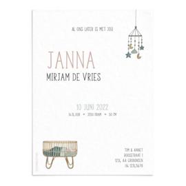 Geboortekaart Janna