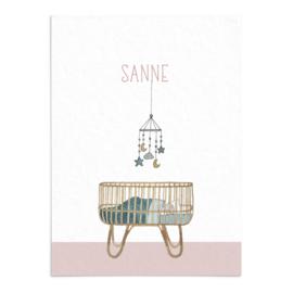 Geboortekaart  Sanne
