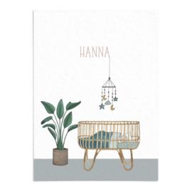 Geboortekaart Hanna