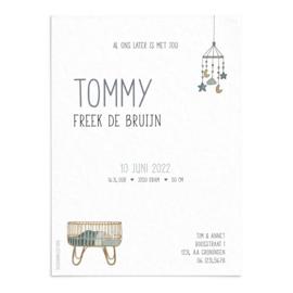 Geboortekaart Tommy