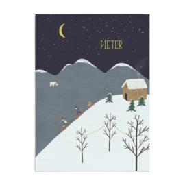 Geboortekaart Pieter - winterwonderland