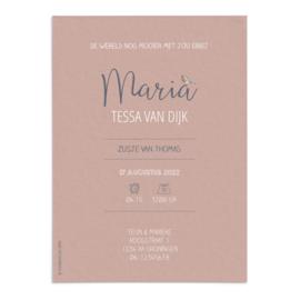 Geboortekaart Maria