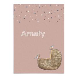 Geboortekaart Amely