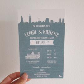 De trouwkaart van Leonie & Riquard